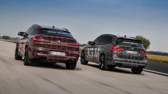 BMW поделилась фотографиями с испытаний X3/X4 M3