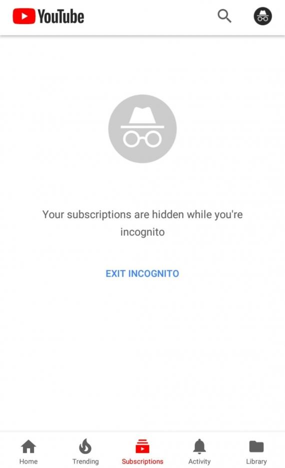 В приложении YouTube замечен режим «Инкогнито»3