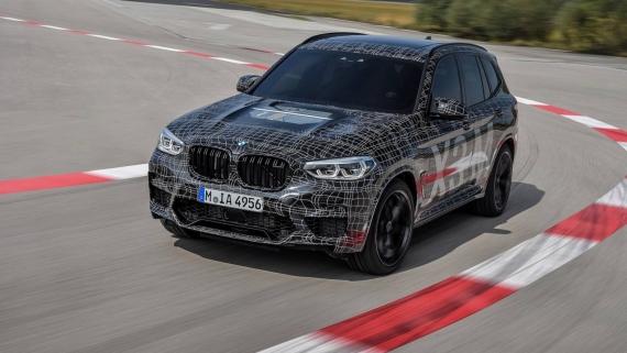 BMW поделилась фотографиями с испытаний X3/X4 M6