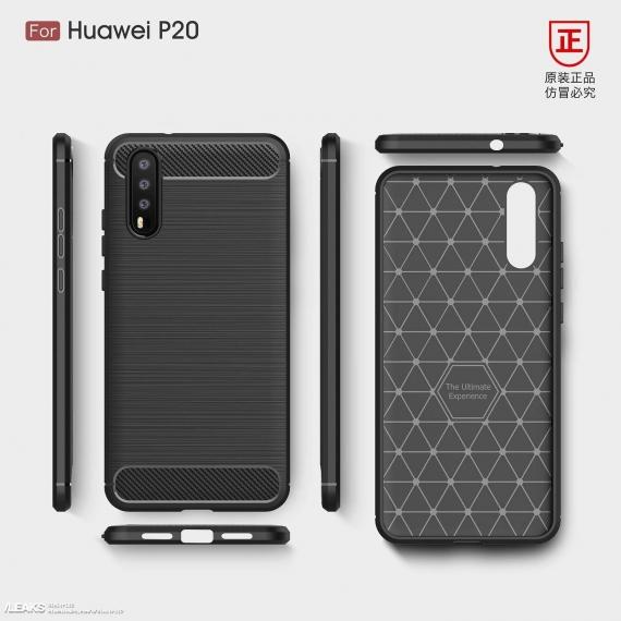 Рендеры чехлов для Huawei P20 раскрыли дизайн флагмана1