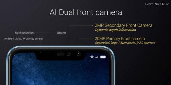 Xiaomi Redmi Note 6 Pro: «чёлка» и Snapdragon за 14 тысяч рублей3