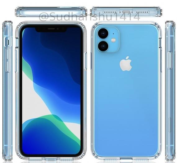 Рендеры iPhone XR 2019 с прозрачным чехлом7