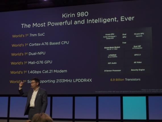 Первый в мире 7-нм процессор Huawei Kirin 9803