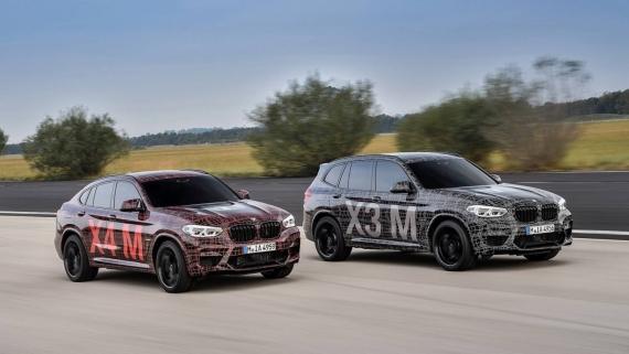 BMW поделилась фотографиями с испытаний X3/X4 M1