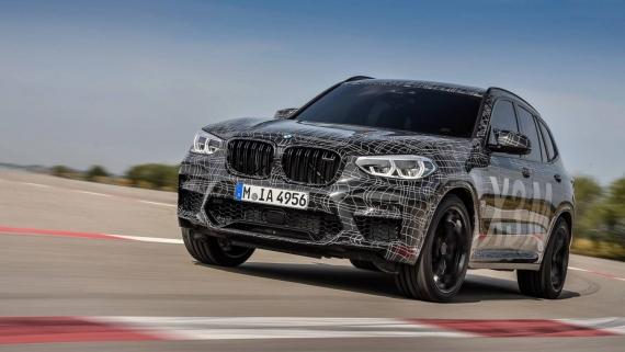 BMW поделилась фотографиями с испытаний X3/X4 M5