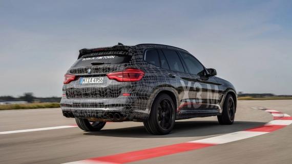 BMW поделилась фотографиями с испытаний X3/X4 M11