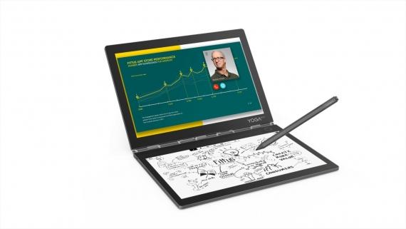Lenovo Yoga Book C930 оснащён сенсорной E-Ink-клавиатурой1