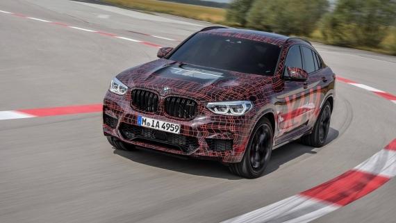 BMW поделилась фотографиями с испытаний X3/X4 M16