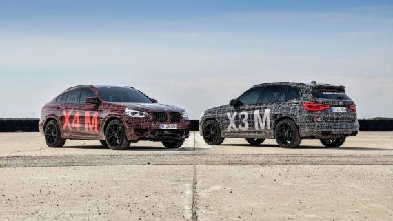 BMW поделилась фотографиями с испытаний X3/X4 M2