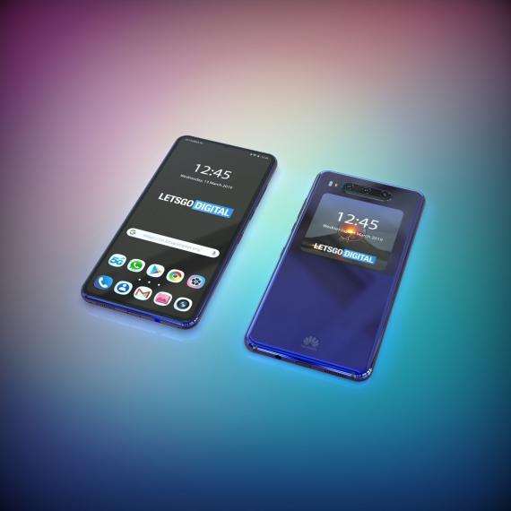 Концепт смартфона Huawei с двумя дисплеями на основе патента1