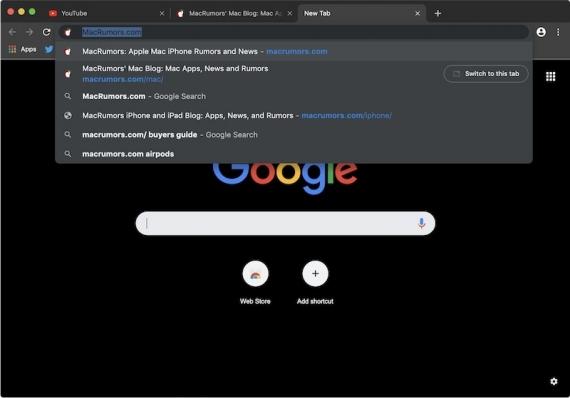 Как активировать тёмную тему в Google Chrome для macOS?1