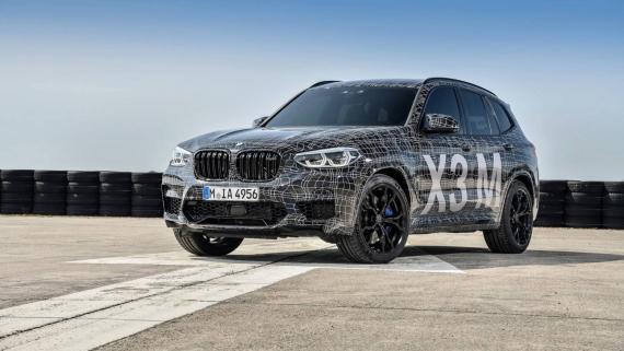 BMW поделилась фотографиями с испытаний X3/X4 M9