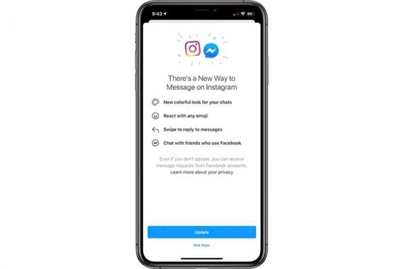 Facebook объединяет чаты Instagram и Messenger1