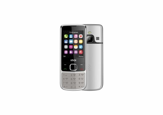 INOI 243 — кнопочный телефон в корпусе из авиационного алюминия1