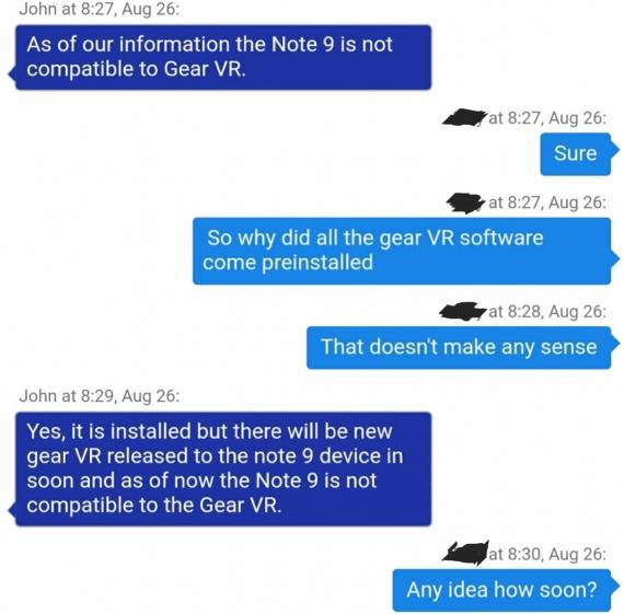 Galaxy Note 9 не работает с Gear VR без специального адаптера1
