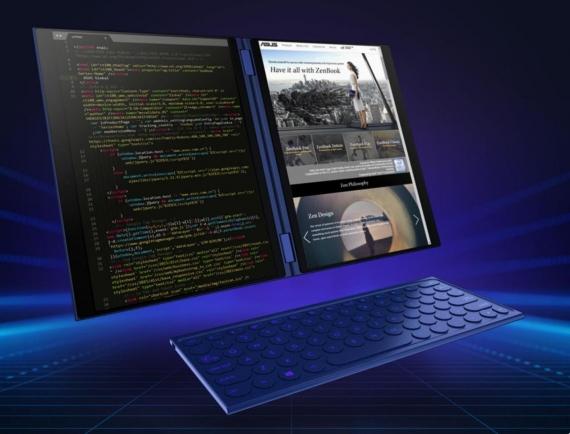 Asus представила ноутбук с двумя дисплеями2