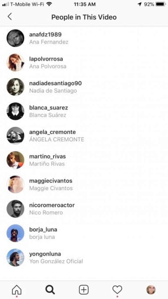 Instagram позволит отмечать людей в видеозаписях2