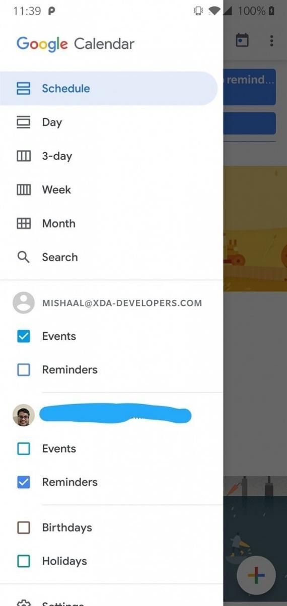 «Google Календарь» 6.0 получил новый MaterialUI6