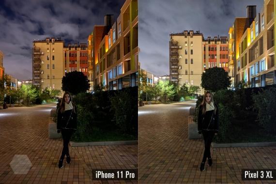 Сравнение ночных снимков iPhone 11 Pro с флагманами конкурентов7