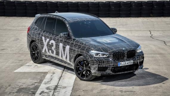 BMW поделилась фотографиями с испытаний X3/X4 M8