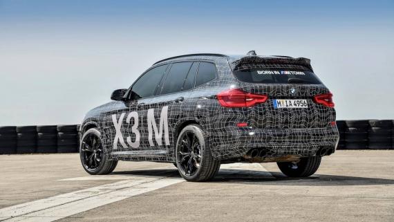 BMW поделилась фотографиями с испытаний X3/X4 M12