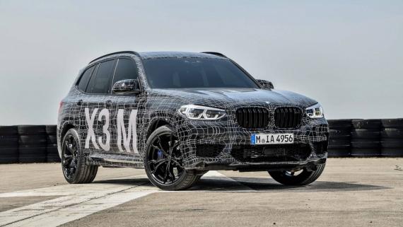 BMW поделилась фотографиями с испытаний X3/X4 M10