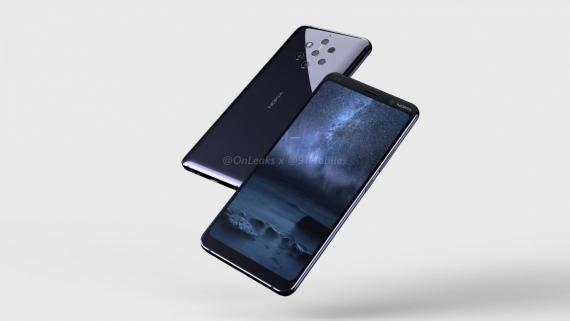 Рендеры демонстрируют основную камеру Nokia 9 из пяти сенсоров0