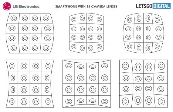 LG запатентовала смартфон с камерой из 16 объективов2