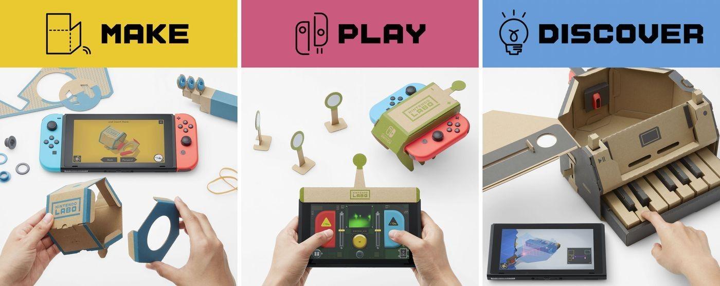 Nintendo представила картонные игрушки для Switch1