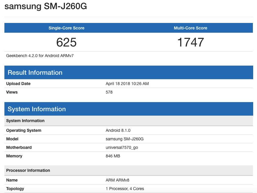 Samsung готовит свой первый смартфон на Android Go1
