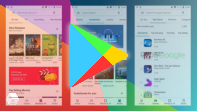 Приложение Google Play обновится с дизайном Material Theme