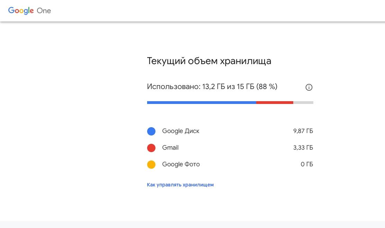 Как получить больше места в вашем хранилище Google1