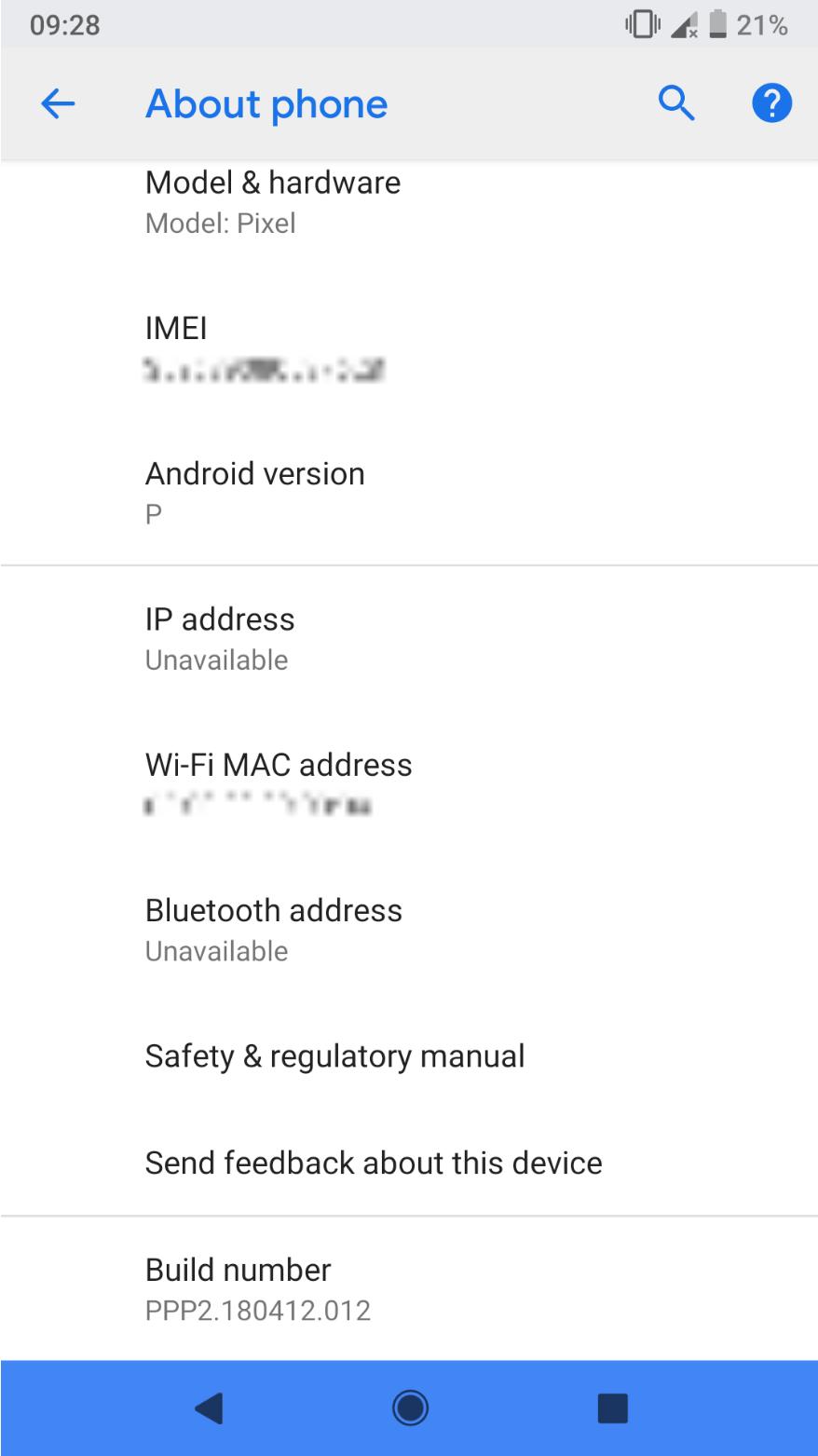 Пользователю удалось заполучить Android P DP2 до релиза2