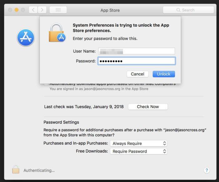 Новая ошибка в macOS High Sierra позволяет получить доступ к настройкам App Store1