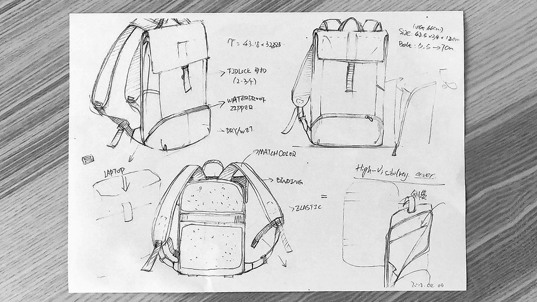 Рюкзак OnePlus Explorer Backpack сшит из нейлоновой ткани2