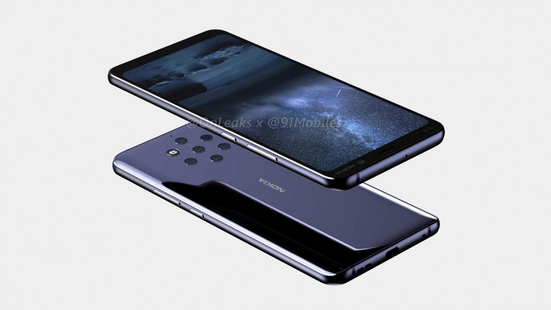Рендеры демонстрируют основную камеру Nokia 9 из пяти сенсоров1