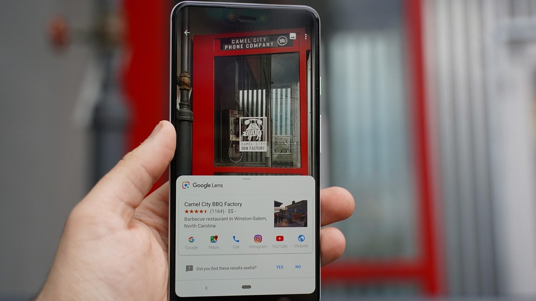 Google Lens получил более компактный интерфейс