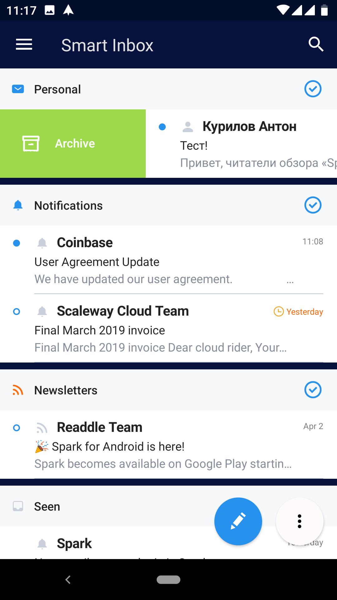 Spark для Android: достойная замена Google Inbox?5