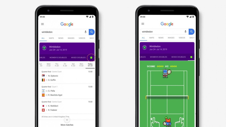 Google добавила 8-битную игру в «Поиск» в честь Уимблдона-2019