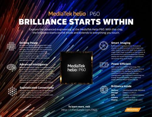 MediaTek представила новый процессор в линейке Helio P1