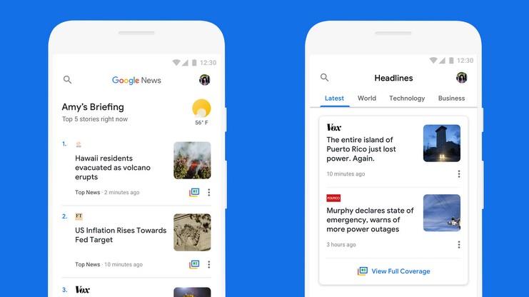 «Google Новости» оптимизируют для работы при слабом интернете