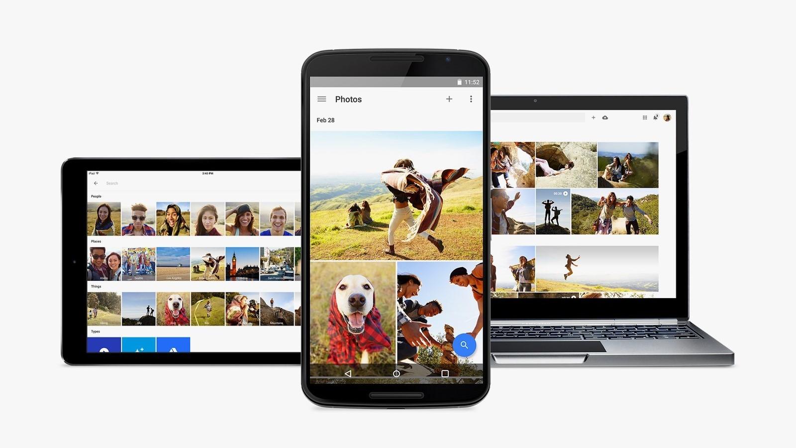 «Google Фото» получили обновлённый Material UI