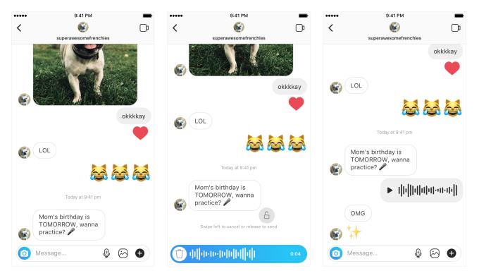 В Instagram появились голосовые сообщения0