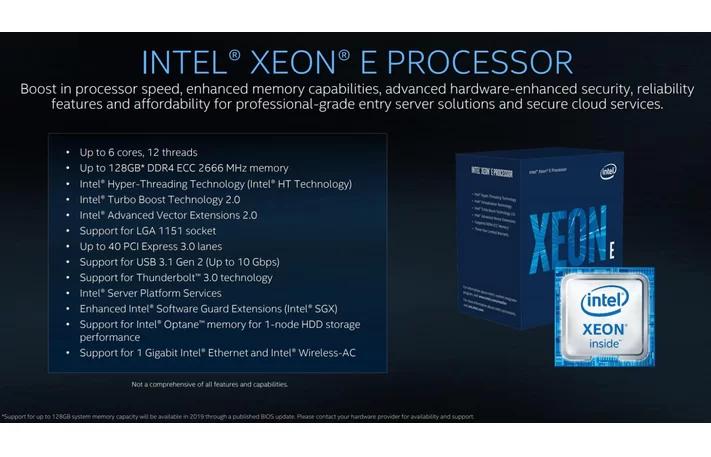 Intel анонсировала процессоры Xeon Cascade Lake-AP и Xeon E-21003