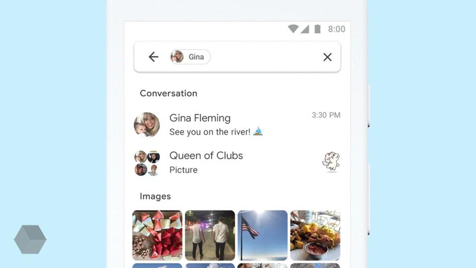 Новый поиск из«Android Сообщений» обязан появиться вiMessage
