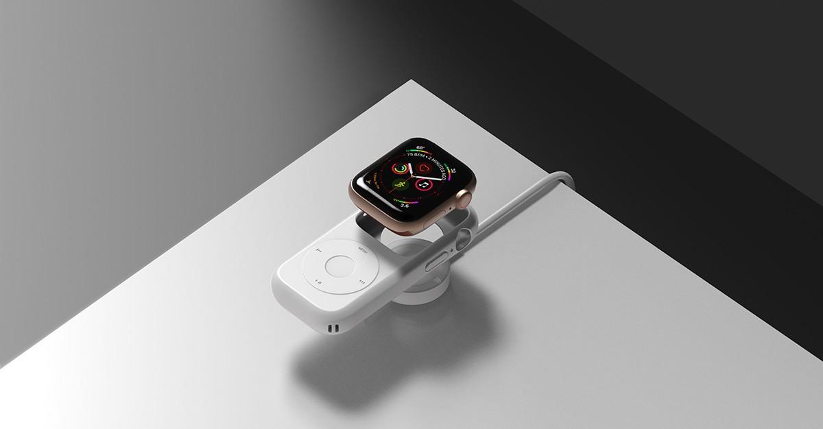 Концепт кейса для превращения Apple Watch в iPod2