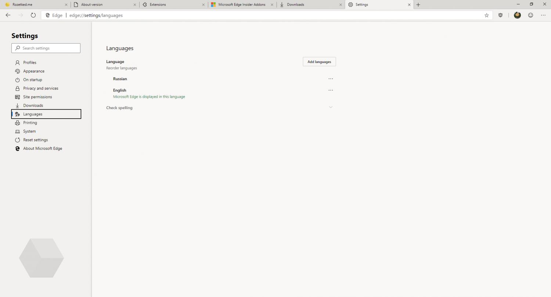 Первый взгляд на Microsoft Edge на основе Chromium12