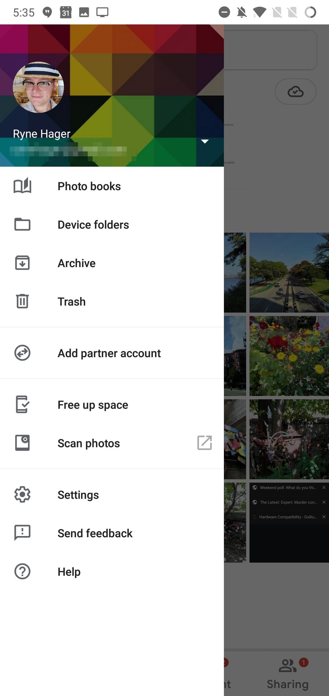 «Google Фото» получили обновлённый Material UI4