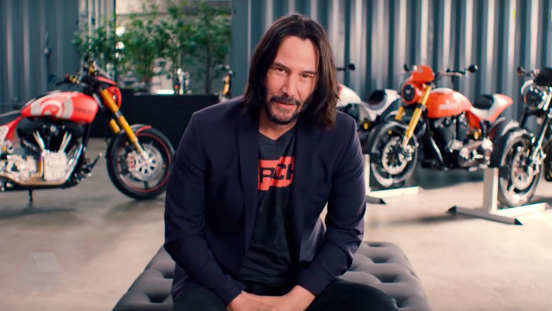 Видеоинтервью Киану Ривза о коллекции мотоциклов