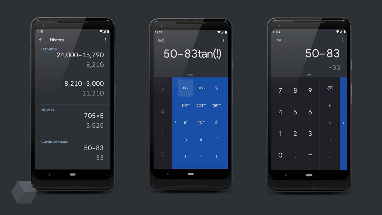 «Google Калькулятор» для Android получил тёмную тему